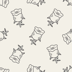 flower doodle seamless pattern background