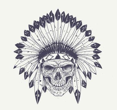 Dotwork Skull Art