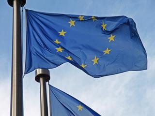EU-Fahne im Wind