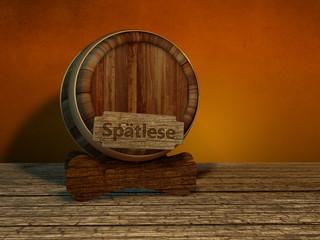 Spätlese Fass Weinfass Holzfass rustikal Wein