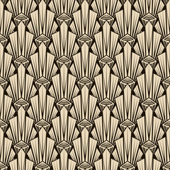Seamless antique pattern ornament. Geometric art deco stylish