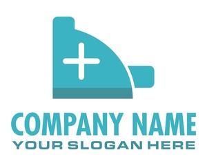 blue plus sign logo image vector