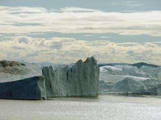 Gletscher und Eisberge in Grönland