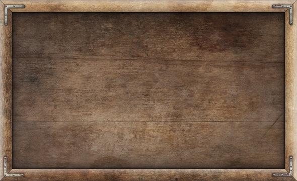 Old grunge wooden picture frame