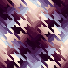 Houndstooth in purple color.
