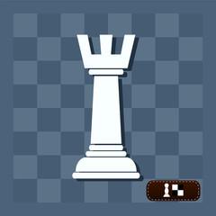 Rook chess icon. Flat design style modern vector illustration. I