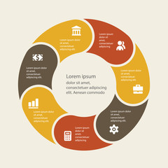 Vector infographic. Template for cycle diagram, graph, presentat
