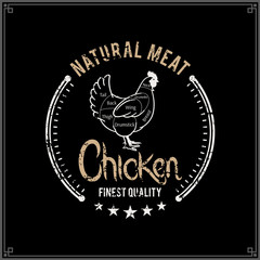 Butcher Shop Logo, Meat Label Template, Chicken Cuts Diagram