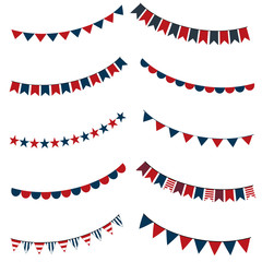 Collection of patriotic bunting flags