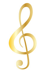 Music note gold symbols vector eps 10