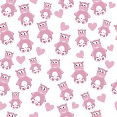 Hippo seamless pattern