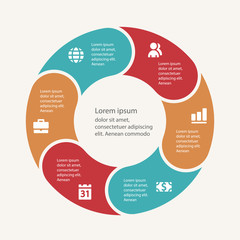 Business infographic template set. Vector illustration for cycle