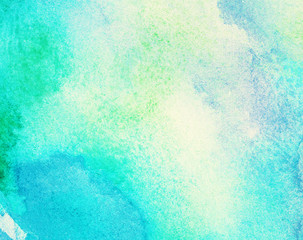 Abstract painted watercolor water, colorful spring, summer