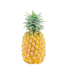 Pineapple isolate on white with clipping path