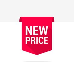 New Price Long Shadow Ribbon