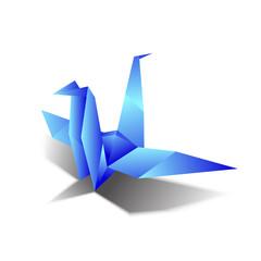 Origami bird vectors background blue sky