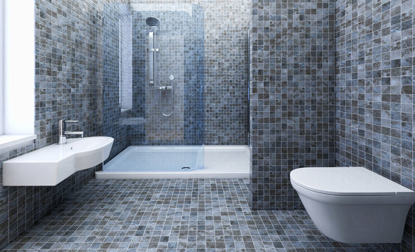 Stanza da bagno con doccia