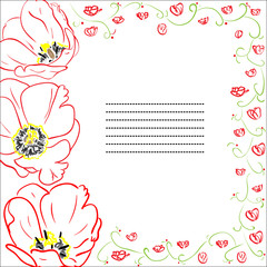 Greeting card with tulips.