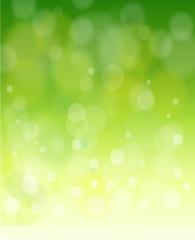 green bokeh abstract light background.  illustration