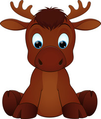 Funny moose