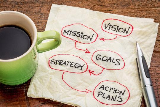 vision, mission, goals, strategyand asctio plans