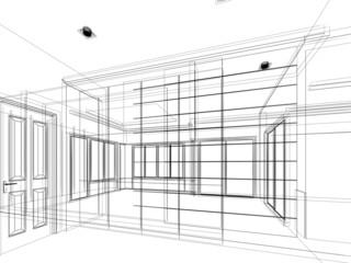 abstract sketch design of interior