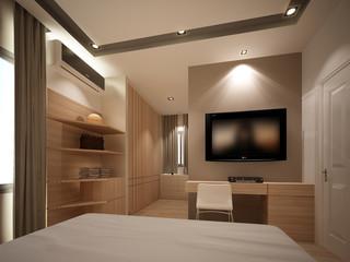 3d render of  of interior bedroom