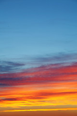 Fototapete - Sky background sunset