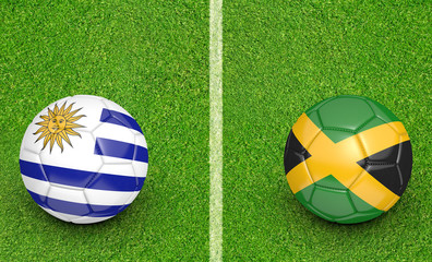 2015 Copa America football tournament, teams Uruguay vs Jamaica