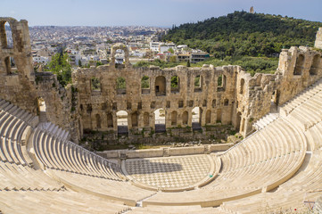 The Odeon of Herodes Atticus, Greece, Athens.