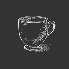 Hand drawn cup