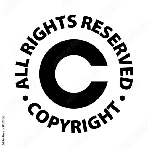 Copyright All Rights Reserved Stock Image And Royalty Free Vector