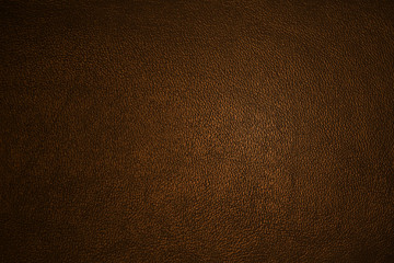 Leather texture dark brown closeup