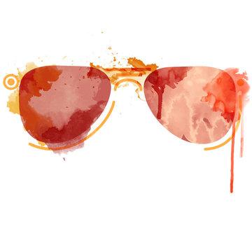 Watercolor sunglasses