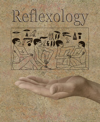 Reflexology depicted in Ancient Egyptian Hieroglyphics