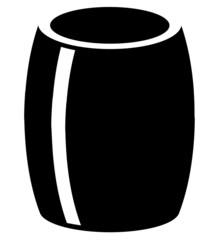 Barrel shaped glass vector image