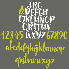 Alphabet letters: lowercase, uppercase and numbers.