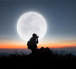 Moon and photographer