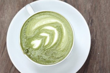 Green tea and milk for drinking