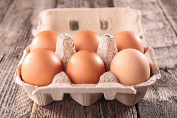 fresh egg in box