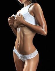 Beautiful female fitness model