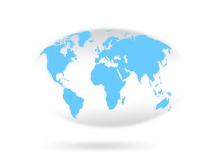 楕円形の世界地図