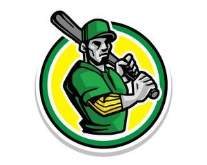 baseball athlete character image vector