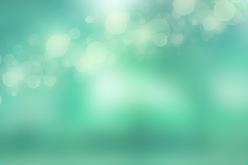 Lights on mint green background