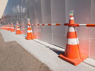 工事現場の防護柵