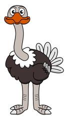 an ostrich looking ahead