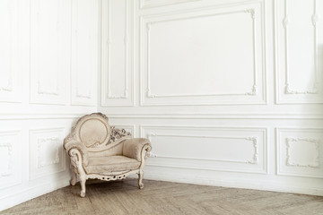 Aristocratic chair in classic interior Wall mural