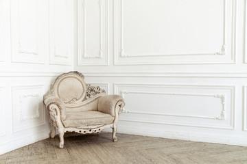 Aristocratic chair in classic interior