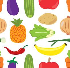 vegetables seamless background