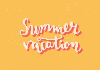 Summer Vacation Hand Lettered Design